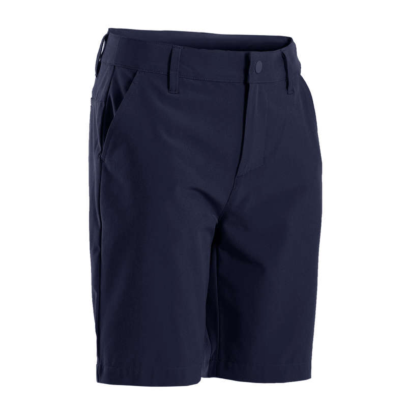 JUNIOR GOLF CLOTHING & SHOES Golf - BOY'S SHORTS - NAVY BLUE INESIS - Golf Clothing