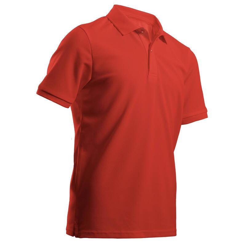DĚTSKÉ GOLFOVÉ OBLEČENÍ A BOTY Golf - DĚTSKÉ POLO MW500 ČERVENÉ INESIS - Golfové oblečení