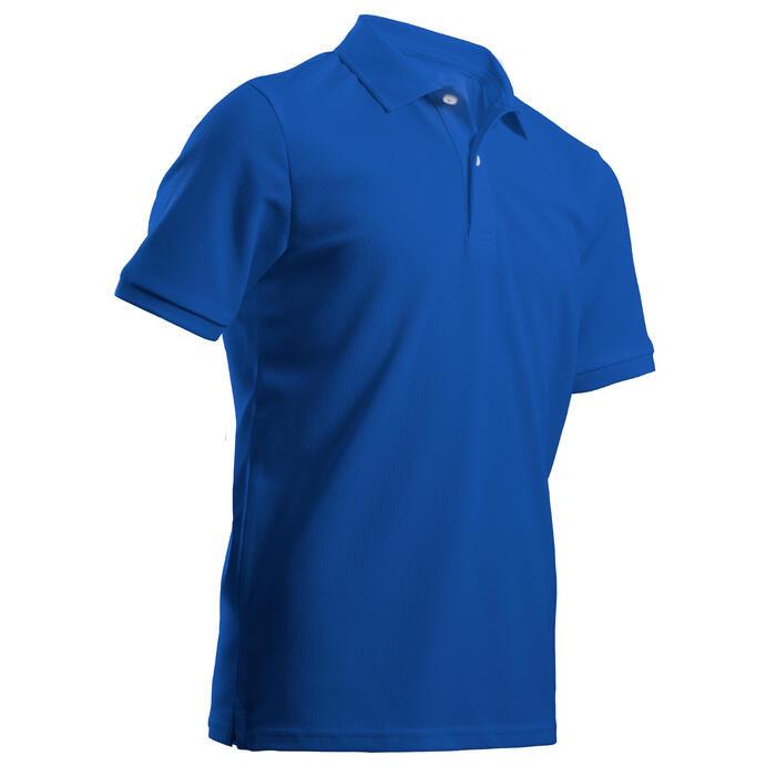 Golfpolo voor kinderen zacht weer indigoblauw