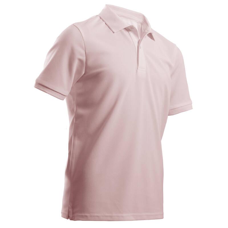 DĚTSKÉ GOLFOVÉ OBLEČENÍ A BOTY Golf - DĚTSKÉ POLO MW500 RŮŽOVÉ INESIS - Golfové oblečení