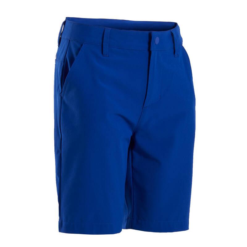 DĚTSKÉ GOLFOVÉ OBLEČENÍ A BOTY Golf - CHLAPECKÉ KRAŤASY MODRÉ INESIS - Golfové oblečení