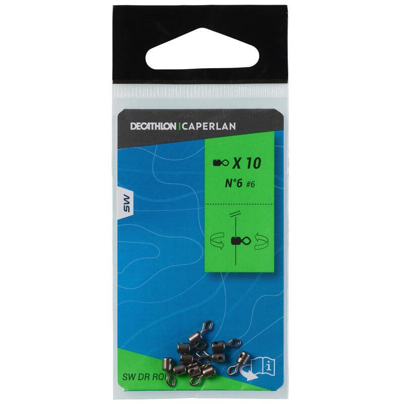 Surfcasting Fishing Rolling Swivel with Hole No. 6
