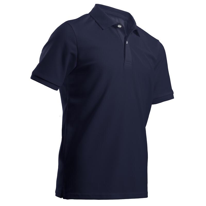 Polo de golf manches courtes enfant MW500 bleu marine