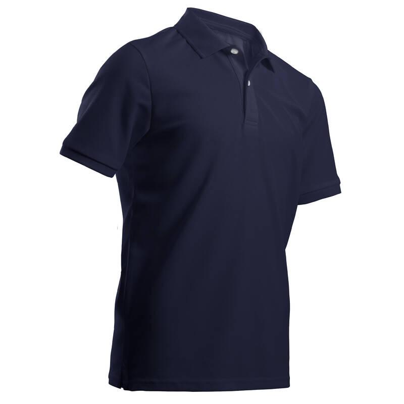 DĚTSKÉ GOLFOVÉ OBLEČENÍ A BOTY Golf - DĚTSKÉ POLO MW500 TMAVĚ MODRÉ INESIS - Golfové oblečení