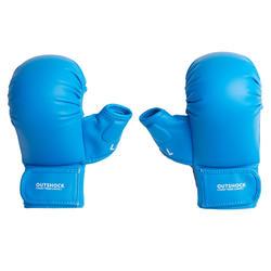 Karate-Handschuhe 900 blau