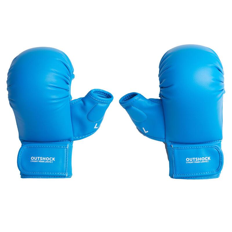 Karatehandschoenen 900 blauw