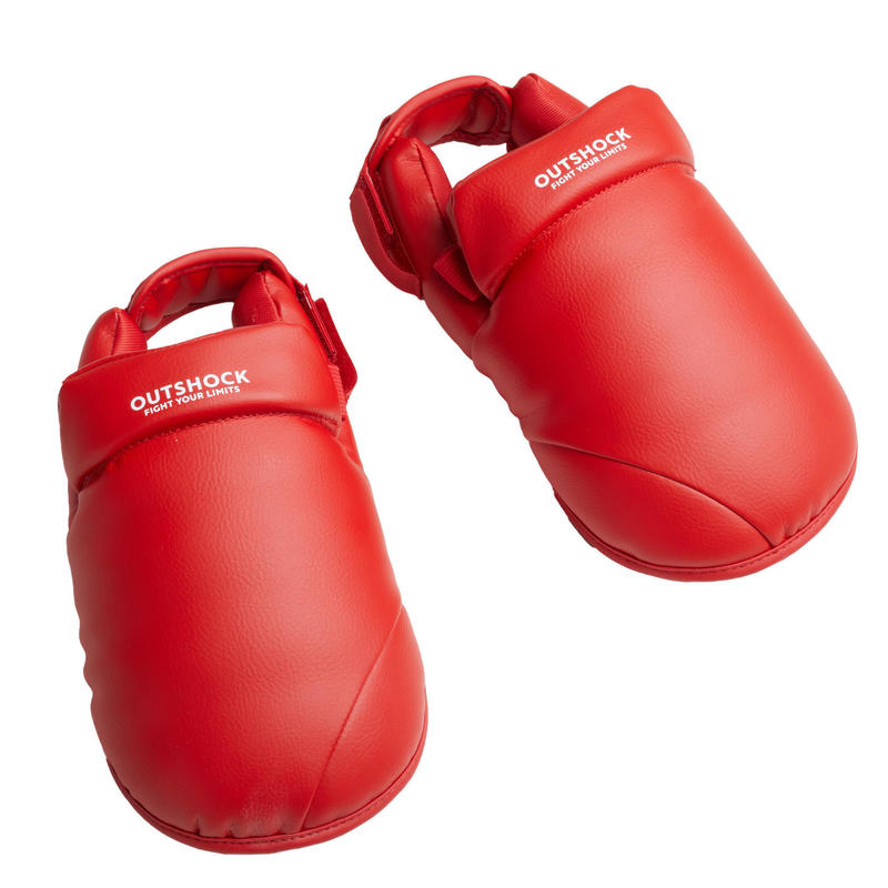 Karate voetbeschermers rood