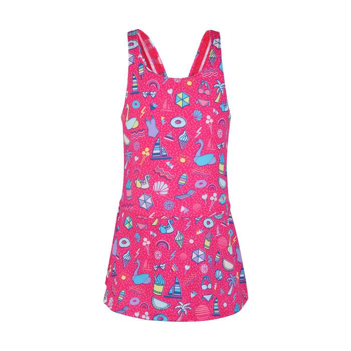 Girls' One-Piece Swimsuit Leony Skirt - All Playa Pink