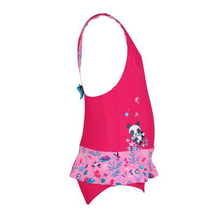 Baju Rok Renang One-Piece Batita Motif Panda Pink