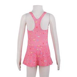 Girls' One-Piece Swimsuit Leony Skirt - All Nama Coral