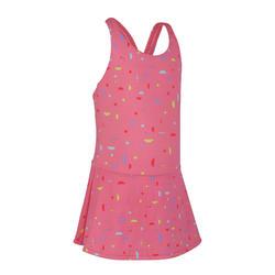 女童款連身裙泳裝Leony-珊瑚紅