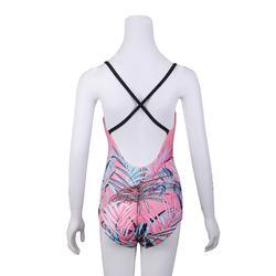 女款連身低剪裁泳裝Riana粉紅色