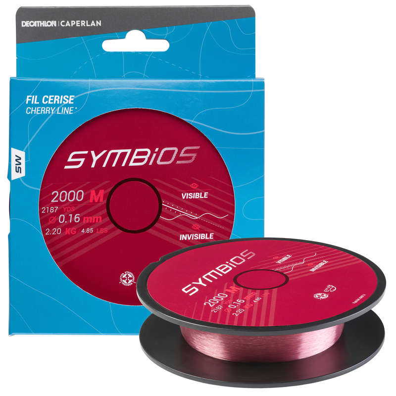 SURFCASTING LINE Fishing - Symbios Line 16/100 - Cherry CAPERLAN - Fishing