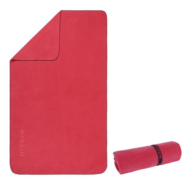 Microfiber Towel Size L 80 x 130 cm - Burgandy