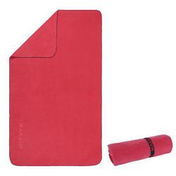 Compact microfibre towel size L 80 x 130 cm - Burgundy