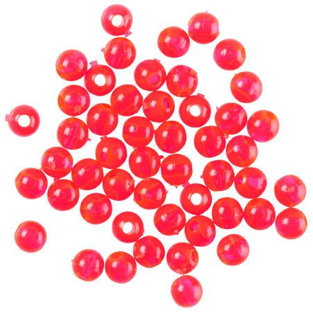 Perles de pêche en surfcasting rouge 4mm