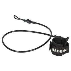 100 BODYBOARD wrist leash for beginners - Black