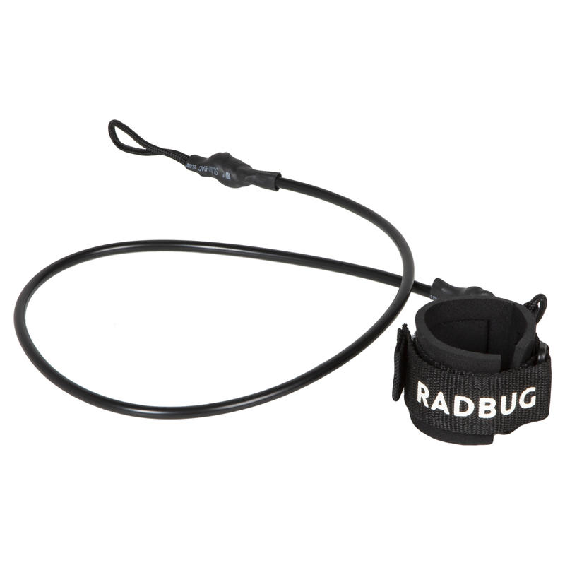 100 BODYBOARD wrist leash for beginners - Black