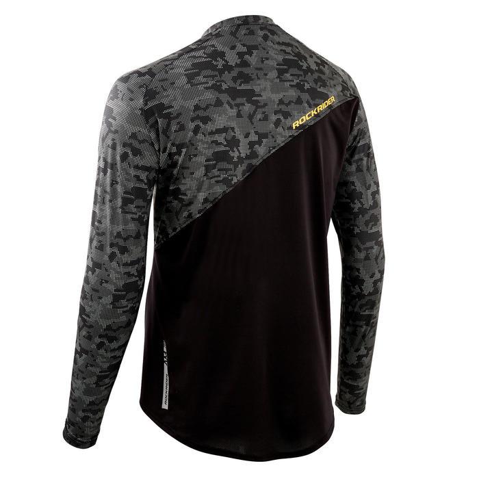 MTB-shirt met lange mouwen All Mountain zwart