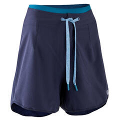 Pantaloncini mtb donna ST 500 azzurri