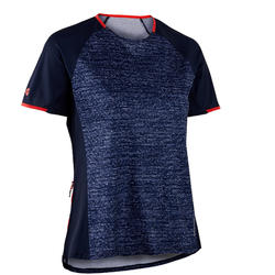 MTB shirt dames ST 100 marineblauw