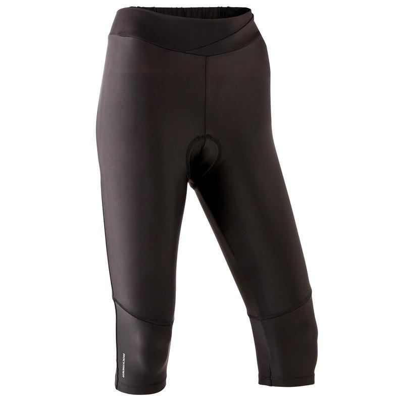 Women's Mountain Biking 3/4 Mid-Length Cycling Shorts ST 500 - Black