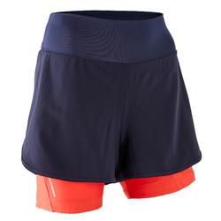 Pantaloncini mtb donna ST 100 blu-rosa