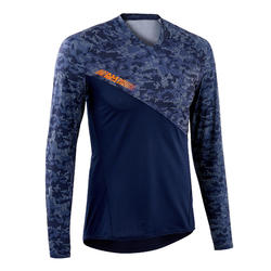 MTB-shirt All Mountain Lange Mouwen Blauw