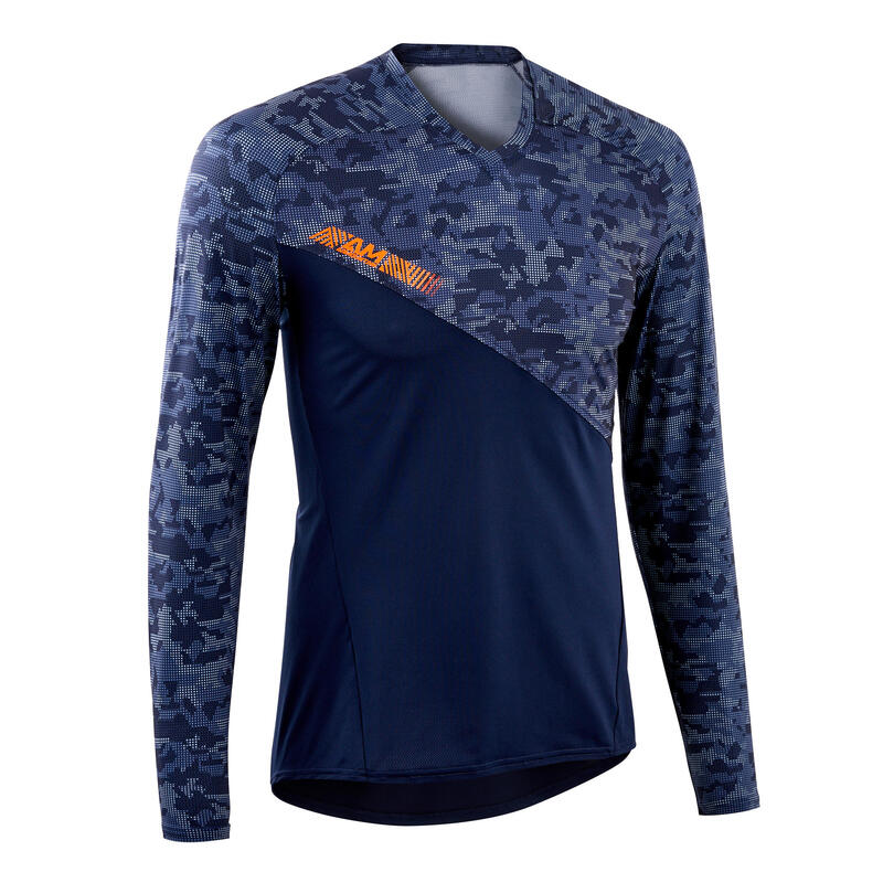 AM Long Sleeve Mountain Bike Jersey - Blue