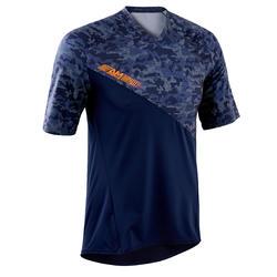 MTB-shirt voor all mountain korte mouwen blauw