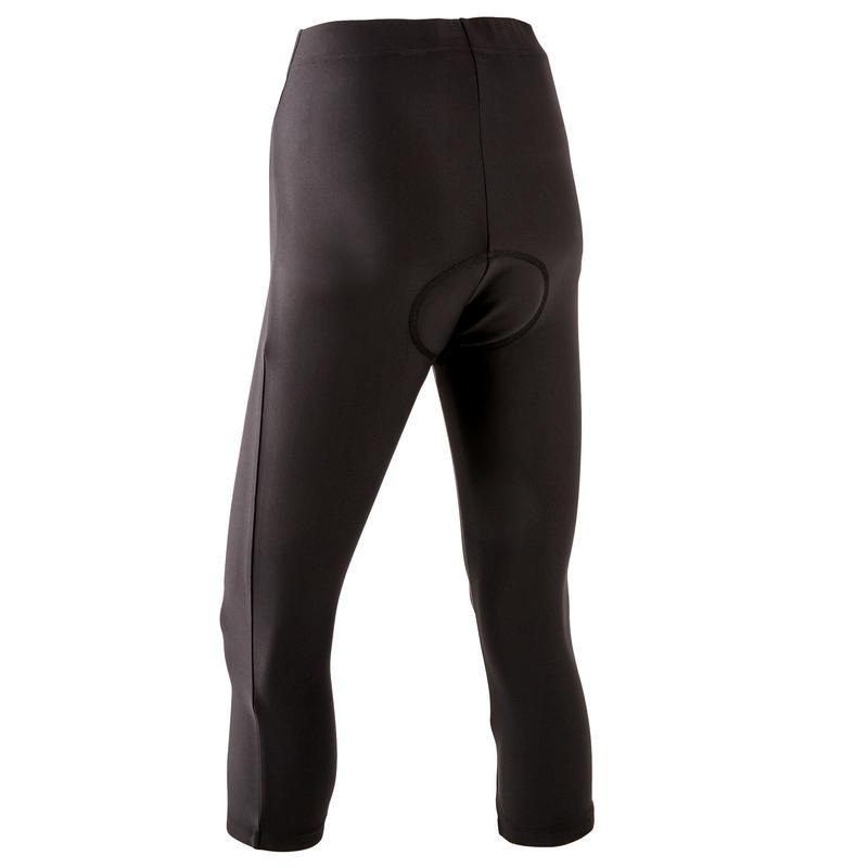 Women's Mountain Biking 3/4 Mid-Length Bottoms ST 100 - Black