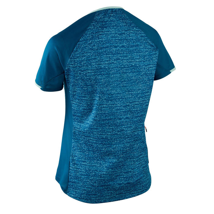 MAILLOT MANCHES COURTES VTT ST 100 FEMME TURQUOISE