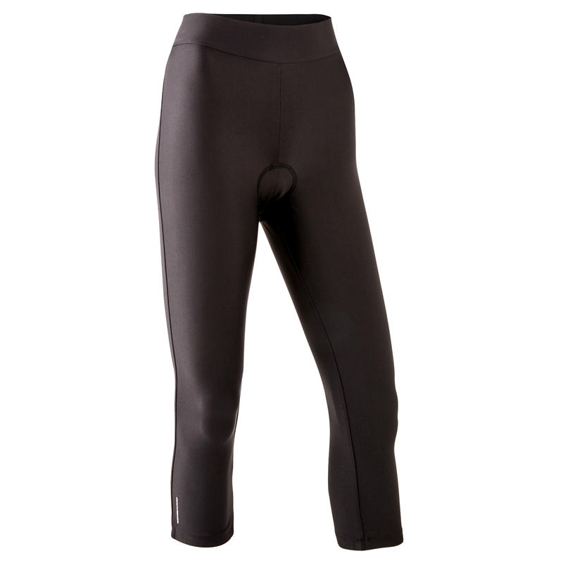 กางเกงขา 3 ส่วนปั่นจักรยานเสือภูเขาสำหรับผู้หญิงรุ่น ST 100 (สีดำ)
