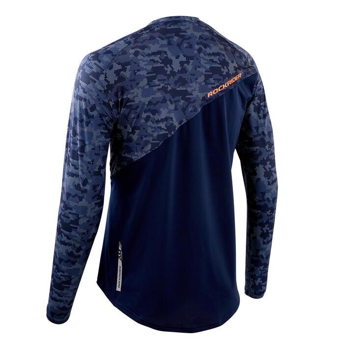 MTB-shirt met lange mouwen All Mountain blauw