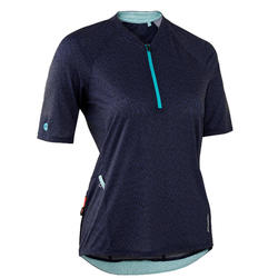 MTB shirt dames ST 500 marineblauw