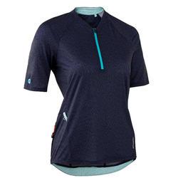 MTB shirt met korte mouwen dames ST 500 marineblauw