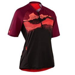 MTB shirt met korte mouwen dames ST 500 paars