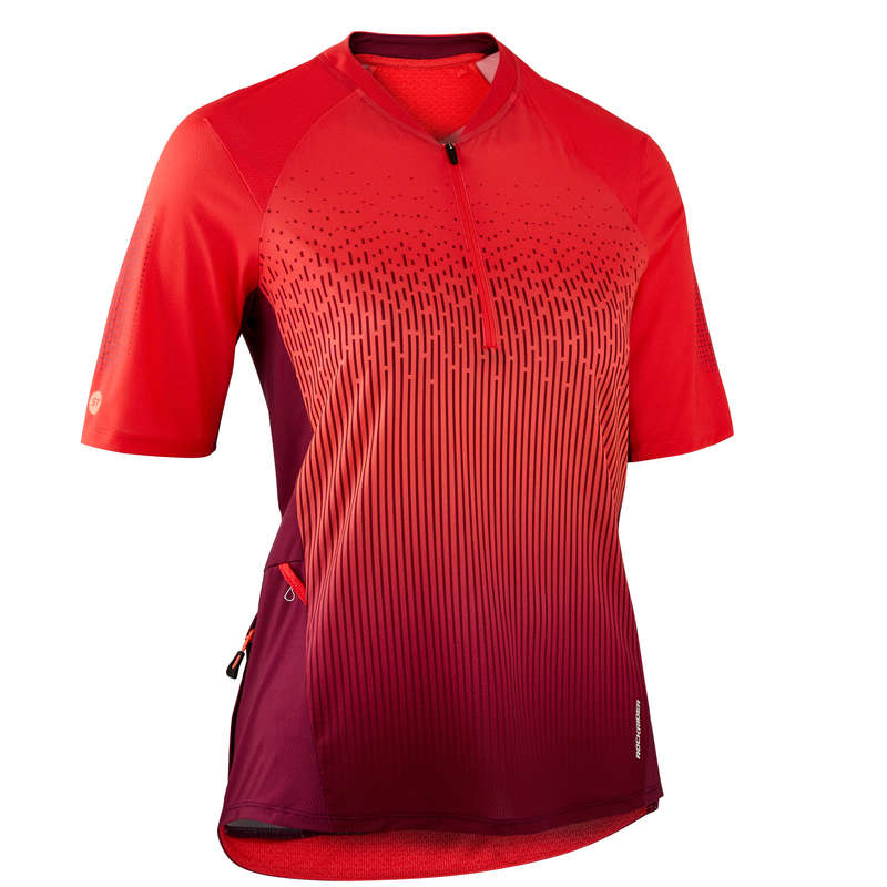 DÁMSKÉ OBLEČENÍ NA HORSKÉ KOLO DO TEPLÉHO POČASÍ Cyklistika - CYKLISTICKÝ DRES MTB ST500 ROCKRIDER - Helmy, oblečení, obuv