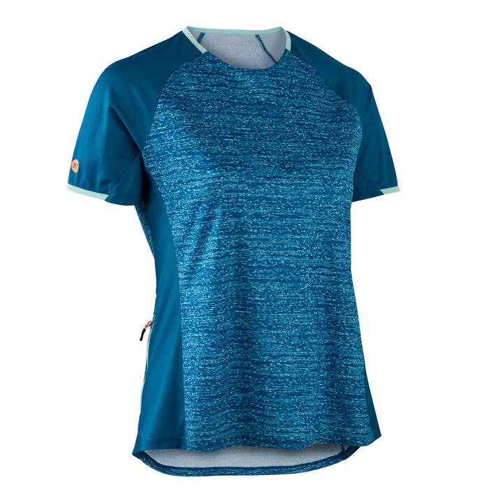 MTB shirt met korte mouwen dames ST 100 turquoise