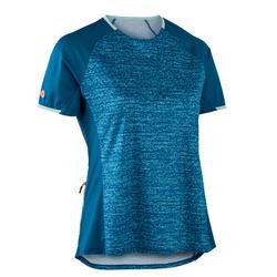 MTB shirt met korte mouwen voor dames ST 100 turquoise