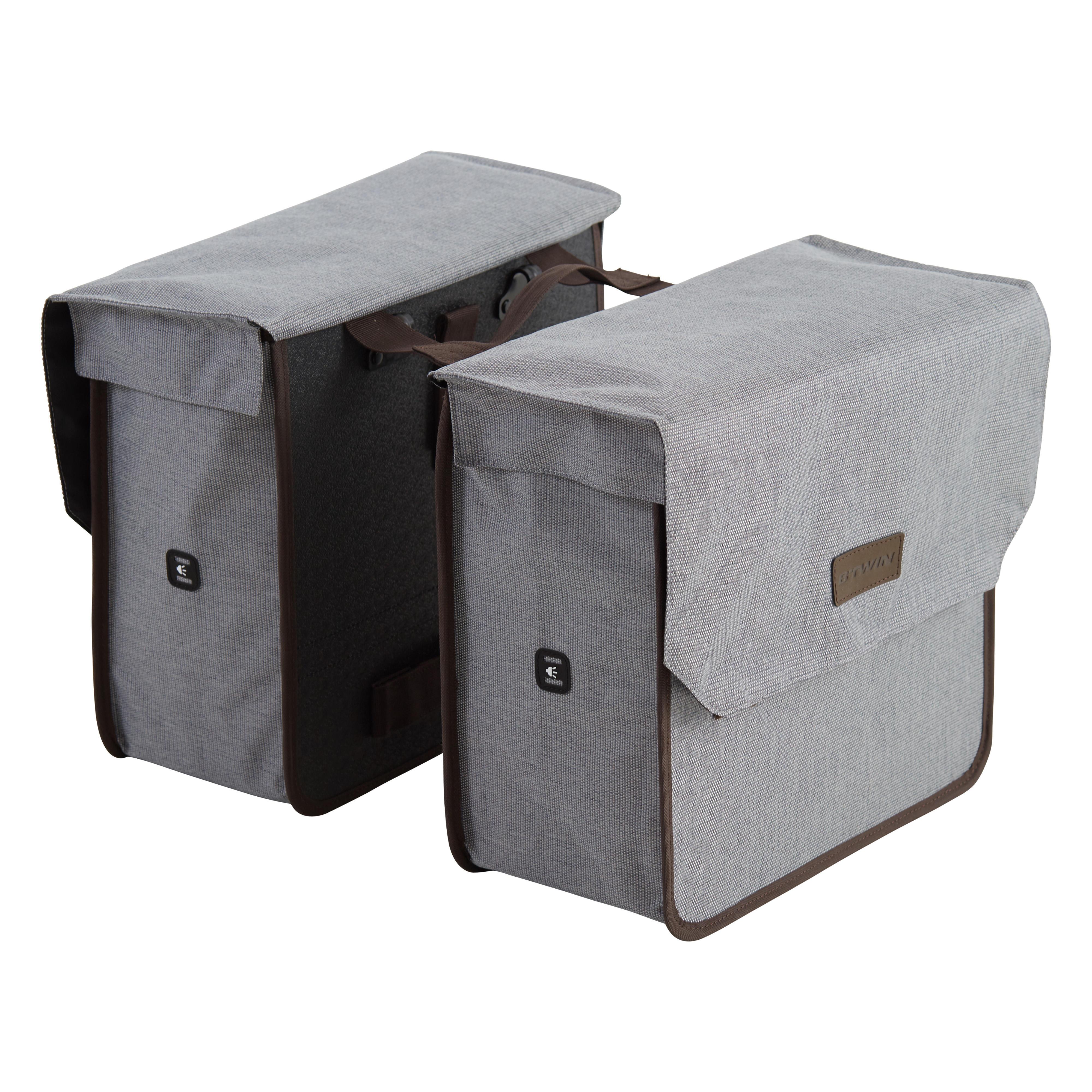 Doppel-Fahrradtasche Gepäcktasche 500 2 × 20 Liter | Taschen > Businesstaschen > Fahrrad-taschen Büro | Elops