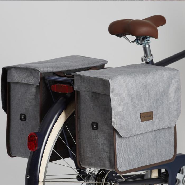 Dubbele fietstas 500 2 x 20 l grijs Ltd