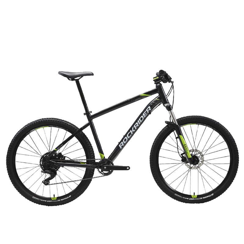 MEN SPORT TRAIL MTB BIKE Cycling - ST 530 Mountain Bike, Black/Yellow - 27.5