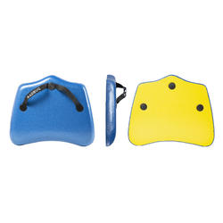 Prancha Handplane de Bodysurf Discovery azul amarelo