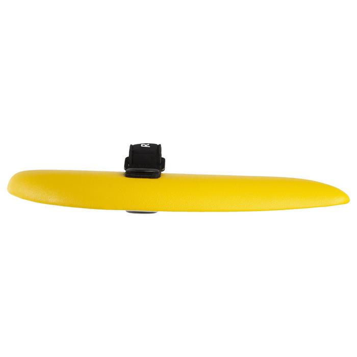 plaquette handplane bodysurf 100 jaune