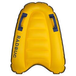 Opblaasbaar Bodyboard Discovery voor kinderen geel 4 tot 8 jaar