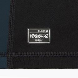 Uv-werende rashguard met korte mouwen voor surfen heren 500 fluo print
