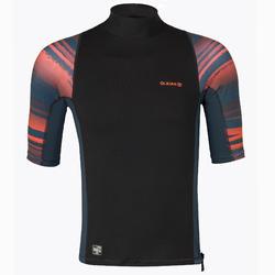 男款抗UV衝浪短袖上衣500-螢光印花款