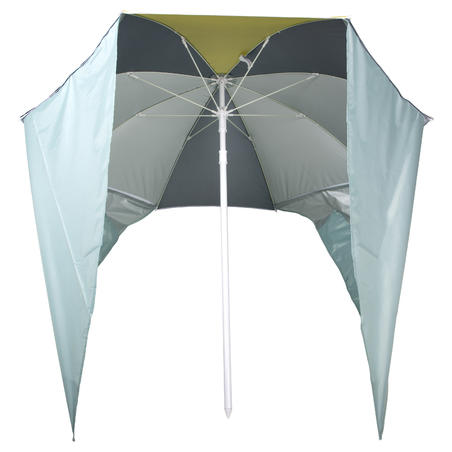 Parasol 2 Person UPF50+ PARUV Windstop - Turquoise Yellow Dark Green