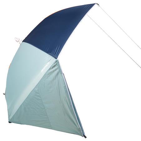 Parasol Abri solaire Iwiko 180 menthe gris orange UPF50+ 3 places